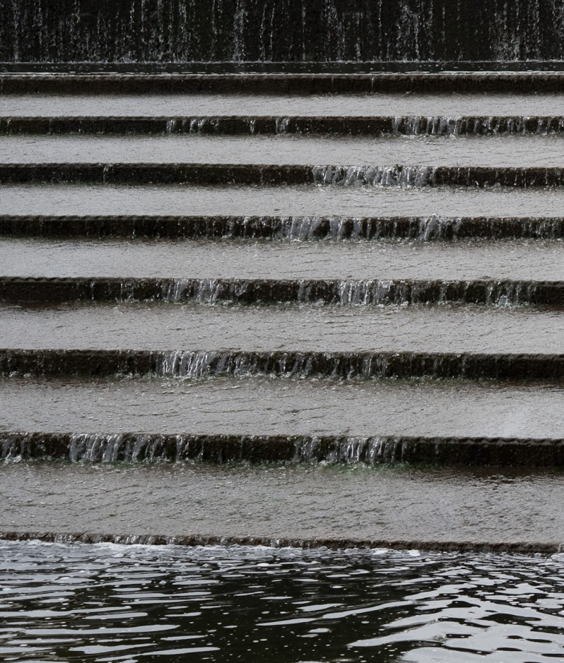 Stairs in a fountain